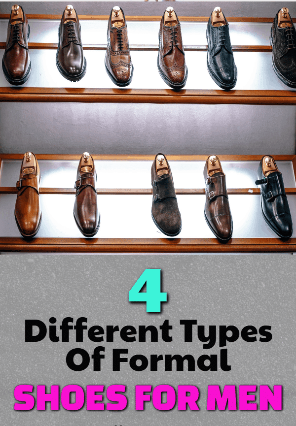 different types of formal shoes for men